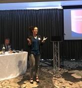 Lorna presenting