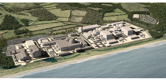 CGI showing Sizewell A, B and C