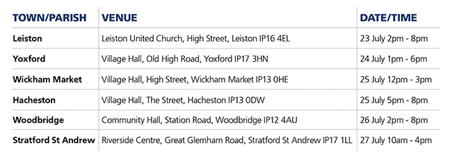 Stage 4 Consultation timetable of events