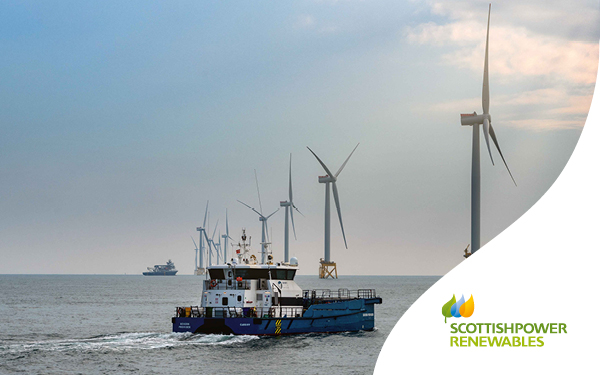 EA1 Offshore windfarm with boat