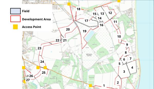 Aldringham Sizewell GI Locations Map (HR)