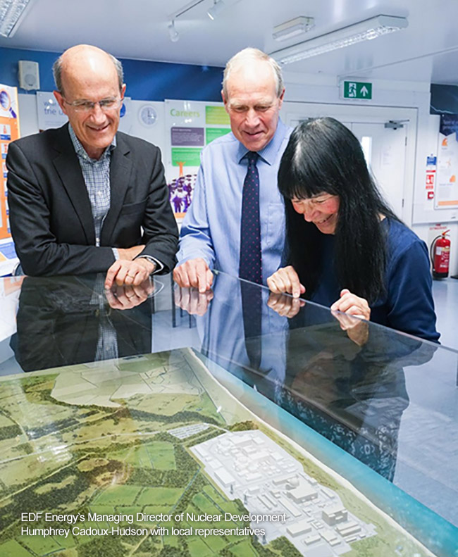 EDF Energy's Managing Director of Nuclear Development Humphrey Cadoux-Hudson with local representatives